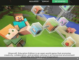education.minecraft.net screenshot