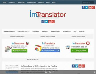 about.imtranslator.net screenshot