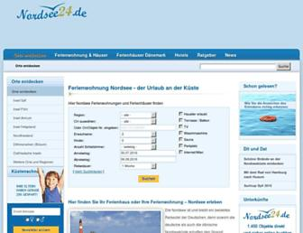 Main page screenshot of nordsee24.de