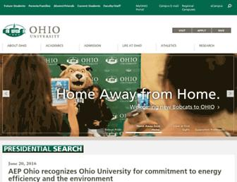 Main page screenshot of ohiou.edu