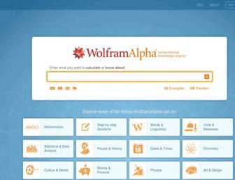 Thumbshot of Wolframalpha.com