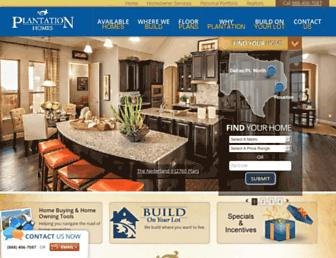 plantationhomes.com screenshot