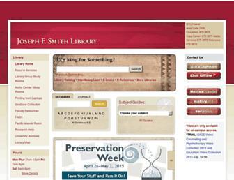 Main page screenshot of library.byuh.edu