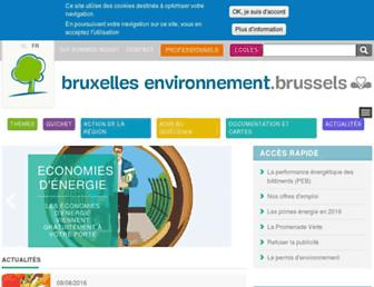 Main page screenshot of bruxellesenvironnement.be