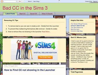 findingbadccsims3.blogspot.com screenshot