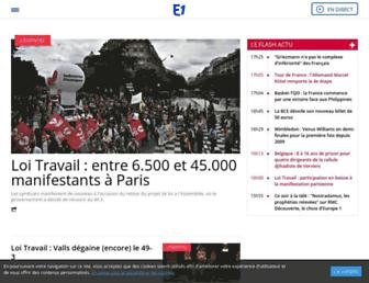 Main page screenshot of europe1.fr