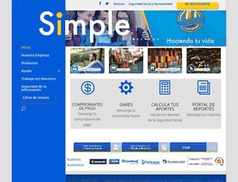 pagosimple.com screenshot