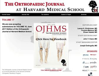 Main page screenshot of orthojournalhms.org