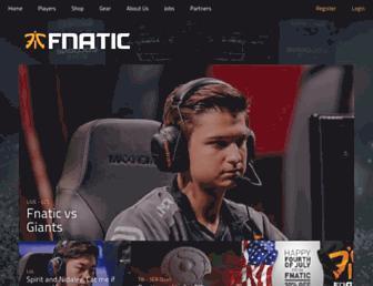 fnatic.com screenshot