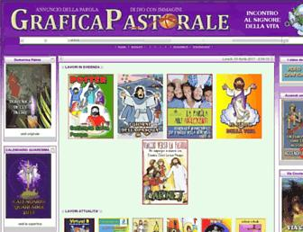 Main page screenshot of graficapastorale.it
