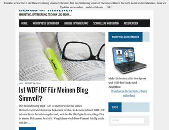 Main page screenshot of blogs-optimieren.de