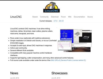 linuxcnc.org screenshot