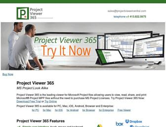projectviewercentral.com screenshot