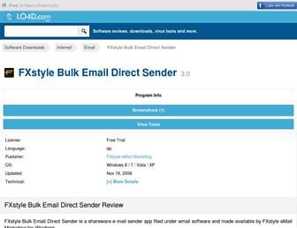 fxstyle-bulk-email-direct-sender.en.lo4d.com screenshot