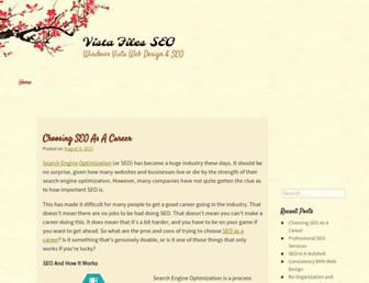Main page screenshot of vista-files.org