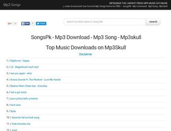 mp3songx.com screenshot