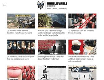 Thumbshot of Unbelievable-facts.com