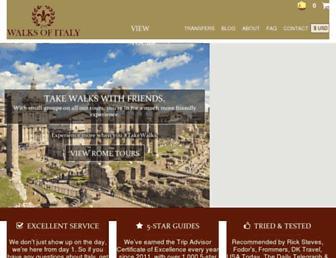 Thumbshot of Walksofitaly.com