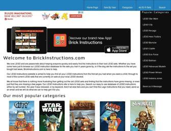 lego.brickinstructions.com screenshot