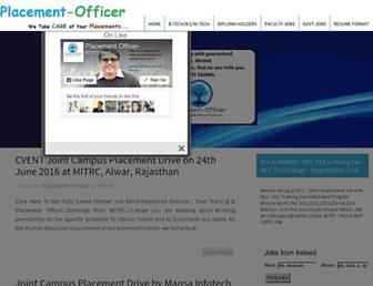 placement-officer.com screenshot