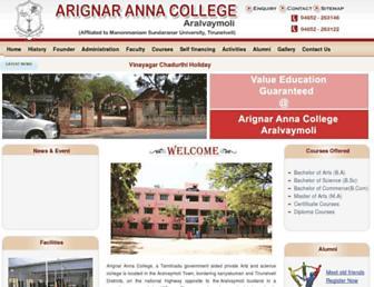 arignarannacollege.com screenshot
