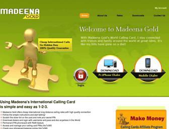 madeenagoldmobile.net screenshot