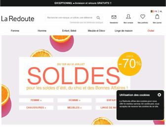Main page screenshot of redoute.be
