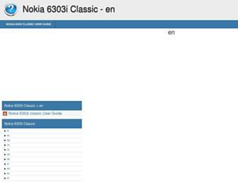 nokia-6303i-classic.helpdoc.net screenshot