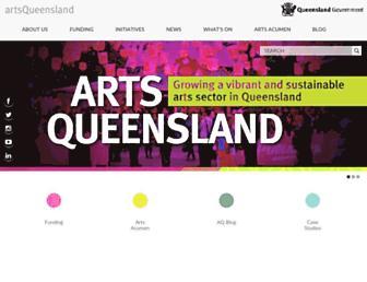 arts.qld.gov.au screenshot
