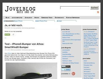 Main page screenshot of jovelstefan.de