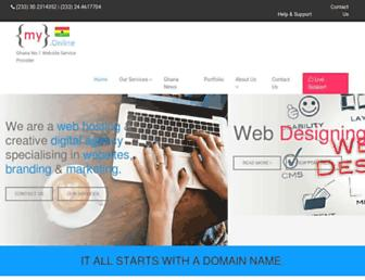myghanaonline.com screenshot