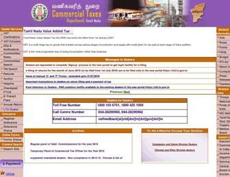 Thumbshot of Tnvat.gov.in