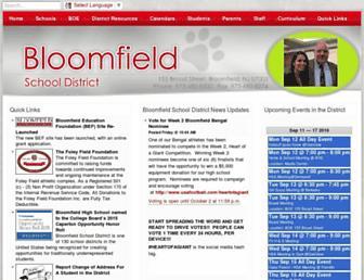 bloomfield.k12.nj.us screenshot