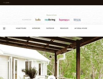homestolove.com.au screenshot