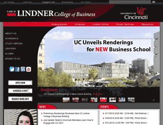 business.uc.edu screenshot