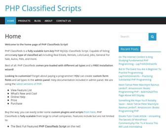 Thumbshot of Phpclassifiedsscript.com