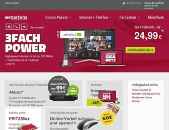 Main page screenshot of martens-deutschetelekabel.de