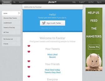 Main page screenshot of favstar.fm