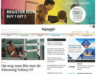 Main page screenshot of digimedia.be
