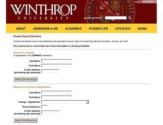 faculty.winthrop.edu screenshot
