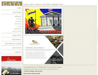 Main page screenshot of gata.org