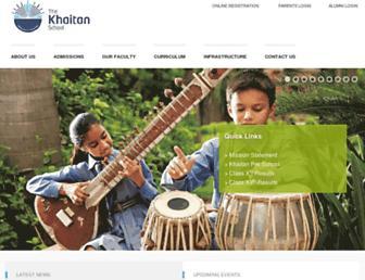 thekhaitanschool.org screenshot