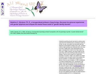 Main page screenshot of genderpsychology.org