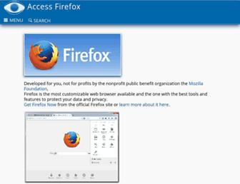 accessfirefox.org screenshot