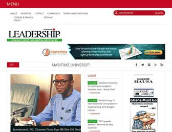 Thumbshot of Leadership.ng