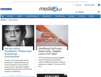 Main page screenshot of media2.pl