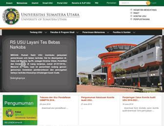 Main page screenshot of usu.ac.id