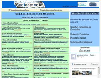 Main page screenshot of mediosmedios.com.ar