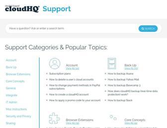 support.cloudhq.net screenshot