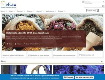 efsa.europa.eu screenshot